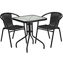 Table and 2 Stack Chair Set, 8812507