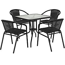 Table and 4 Stack Chair Set, 8812515