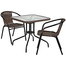 Table and 2 Stack Chair Set, 8812514