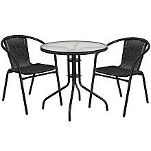Table and 2 Stack Chair Set, 8812517