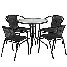 Table and 4 Stack Chair Set, 8812518