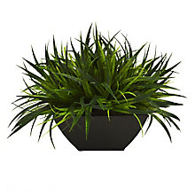 "11""H Faux Potted Grass, 8813494"