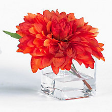 "8""H Artificial Dahlia in Glass Container, 8813499"