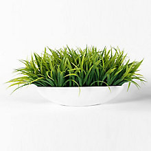 "10""H Faux Grass in Metal Container, 8813500"