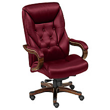 Traditional Tufted Leather Executive Chair , 8827877