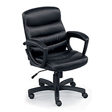 Stellar Mid Back Conference Chair in Faux Leather, TRU-E42013