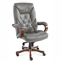 Kingston Traditional Big and Tall Tufted Leather Executive Chair, 8827885