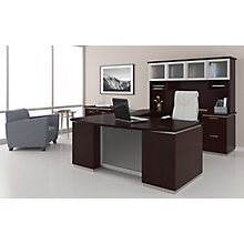 U-Shape Desk Set with Hutch, Right Return, 8828063