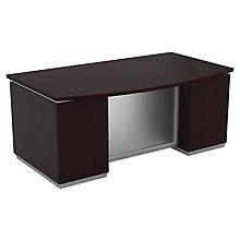 """Bow Front Double Pedestal Executive Desk - 72""""W x 42""""D, 8828060"""