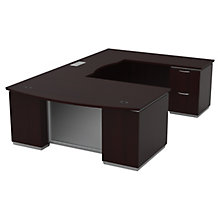 "U-Shape Desk with Right Bridge - 72""W x 114""D, 8828069"