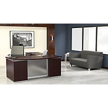 "Bow Front L-Shape Desk with Left Return - 72""W x 90""D, 8828077"