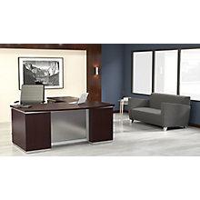 """Bow Front L-Shape Desk with Left Return - 72""""W x 90""""D, 8828077"""
