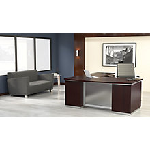 "Bow Front L-Shape Desk with Right Return - 72""W x 90""D, 8828078"
