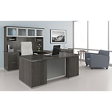 U-Shape Desk Set with Hutch and File, Left Return , 8828062