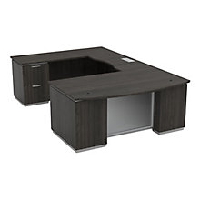 "U-Desk with Left Bridge - 72""W x 114""D, 8828068"