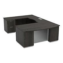 "U-Shape Desk with Left Bridge - 72""W x 114""D, 8828068"