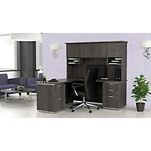 "L-Shaped Desk with Hutch, Left Return - 72""W x 72""D, 8828070"