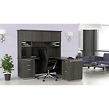 "L-Shaped Desk with Hutch, Right Return - 72""W x 72""D, 8828071"