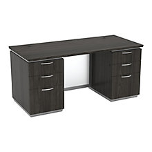 "Double-Pedestal Executive Desk - 66""W x 30""D, 8828017"