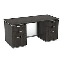 """Double-Pedestal Executive Desk - 66""""W x 30""""D, 8828017"""