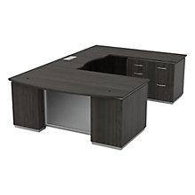 """Four Pedestal U-Shape Desk with Right Bridge - 72""""W x 114""""D, 8828076"""