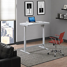 "Adjustable Desk with Glass Top - 47""W x 25""D, 8827880"