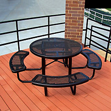 "Thermoplastic Coated Picnic Table - 46"" Round, ULT-358RDV"