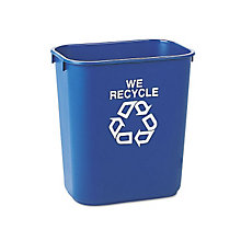 Small Recycling Receptacle - 13-5/8 Quart, UNE-RCP295573BE