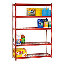 "Boltless Five Shelf Steel Shelving 72"" H  , 8820436"