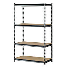 "Boltless Four Shelf Steel Shelving 60""H, 8816608"