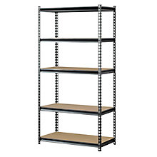 "Boltless Five Shelf Steel Shelving 72"" H, 8820431"