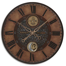 "Bronze Weathered 23""Dia Wall Clock, 8801694"