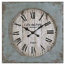 "Aged Blue Square 29"" Wall Clock, 8801695"