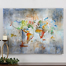 Charmant World Of Color   Canvas Wall Art, 8801873