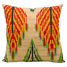 "kathy ireland by Nourison Ikat Leaf Pattern Accent Pillow - 18""W x 18""H, 8803809"