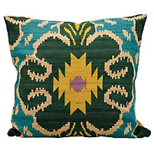 "kathy ireland by Nourison Ikat Clover Pattern Accent Pillow - 18""W x 18""H, 8803810"