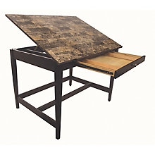 "Vanguard Drafting Table with Marble Finish Top 48""W x 36""D, 8822137"