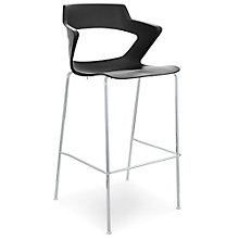 Zee Polypropylene Stool with Wing Arms, 8814198