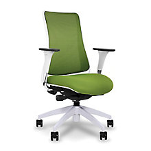 Genie Mesh Back Conference Chair with White Frame, 8813958