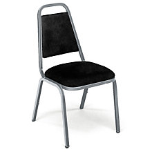 Black Vinyl Stack Chair, VIR-8926S1