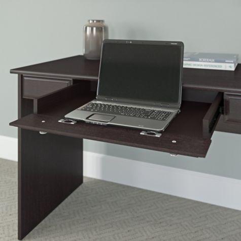 Drop-down center drawer