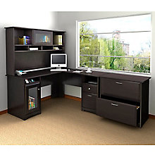 Cabot L-Desk with Lateral File and Bookcase, 8804877