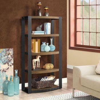 Santa Fe Five Shelf Distressed Bookcase 60h