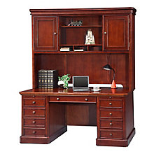 "Canyon Ridge Double Pedestal Desk with Hutch - 68""W, 8804694"