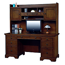 "Topaz Computer Desk with Hutch - 66""W, 8804699"