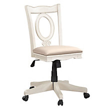 Palm Beach Armless Keyhole Back Office Chair, 8814512