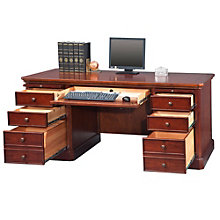 "Canyon Ridge Double Pedestal Desk - 68""W, 8803310"