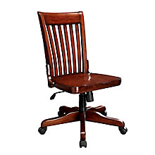 Canyon Ridge Slat Back Armless Wood Office Chair, 8803313
