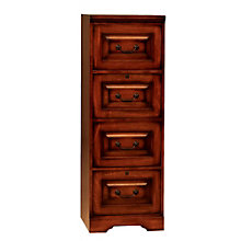 "Country Cherry Four Drawer Vertical File - 18.5""W, 8803379"