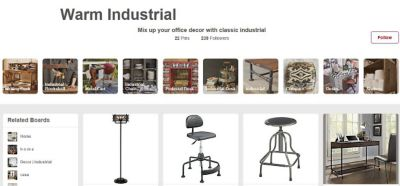 Warm Industrial Pinterest Board